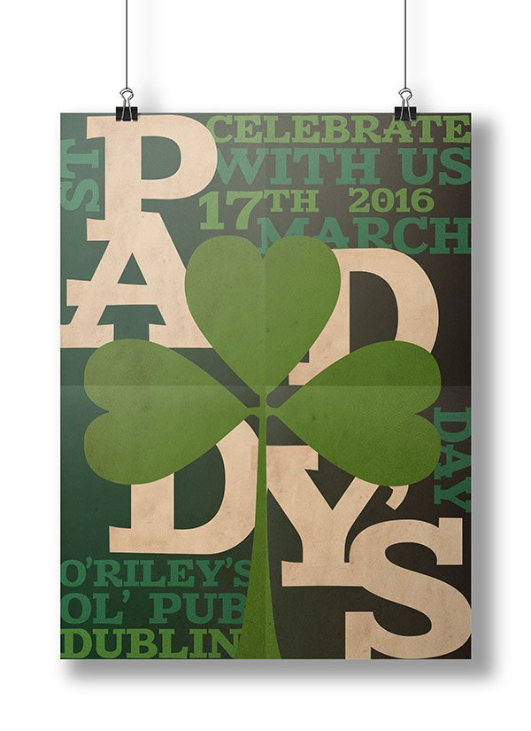 Witek Szwarcman commented with their version of a St Patricks Day-themed typographic poster design thanks to a tutorial by Grace Fussell