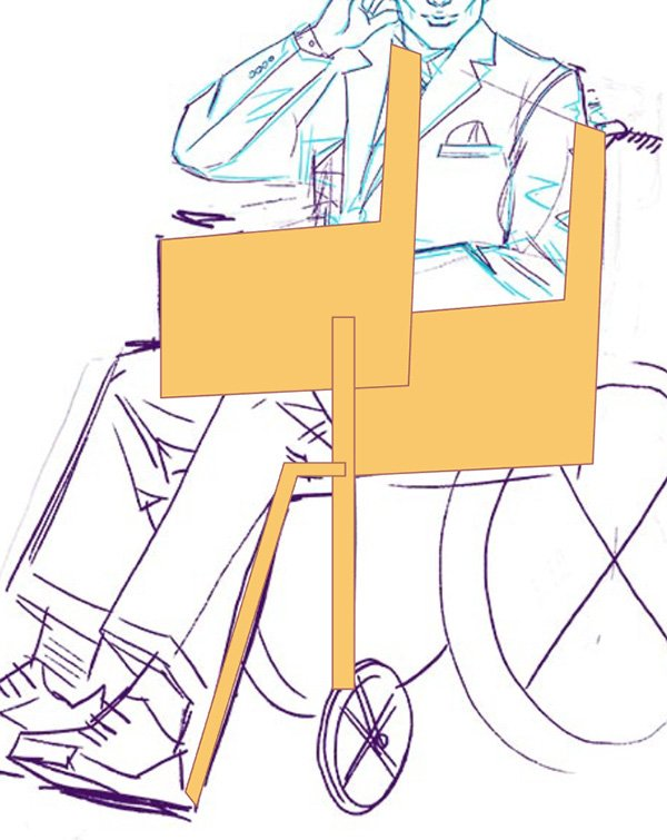 Work up the chair line art and hide or unhide components as needed
