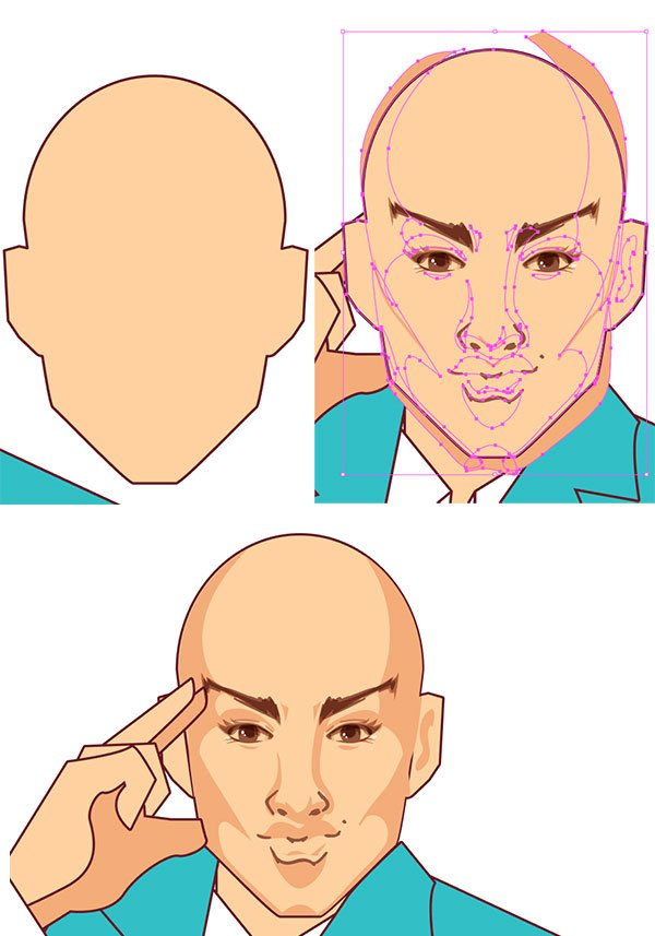 Clip the shadow group to the head object