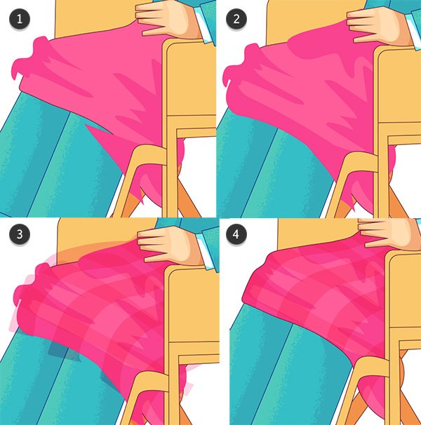 Add shadow and pattern shapes to the blanket