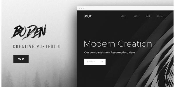 Boden - Creative WordPress Portfolio Theme