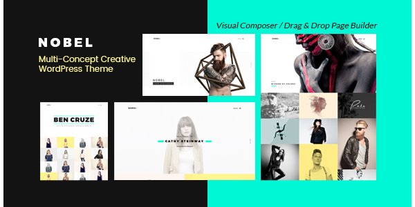 Nobel - Minimal Versatile Multi-Concept Portfolio Agency WordPress Theme