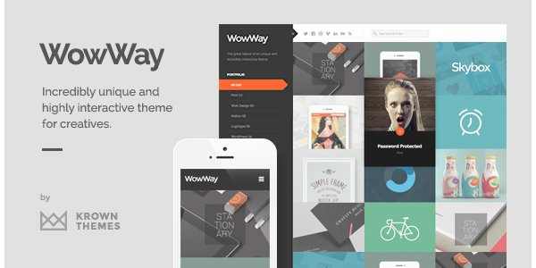 WowWay - Interactive Responsive Portfolio Theme