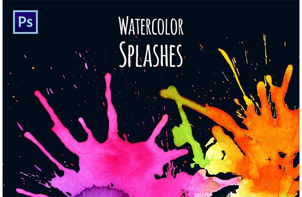 Watercolor Splash Brushes