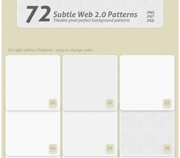 72 Subtle Web 20 Patterns