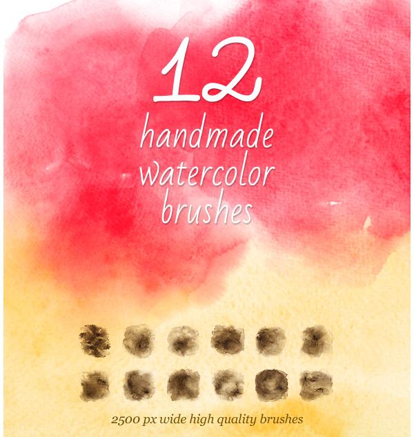12 Watercolor Handmade Brushes