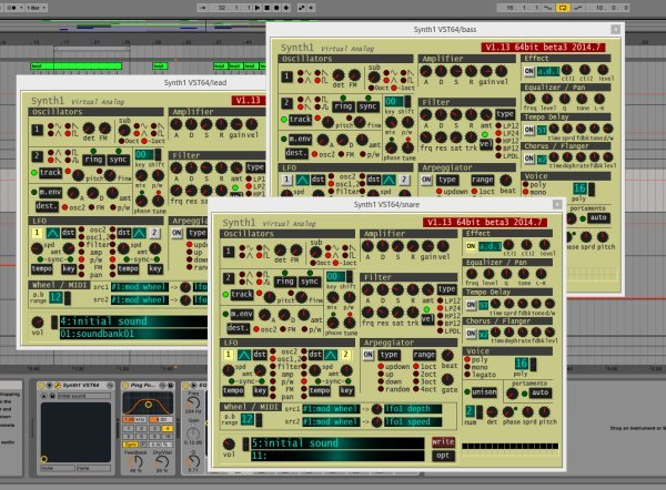 Multiple Synth1 instances
