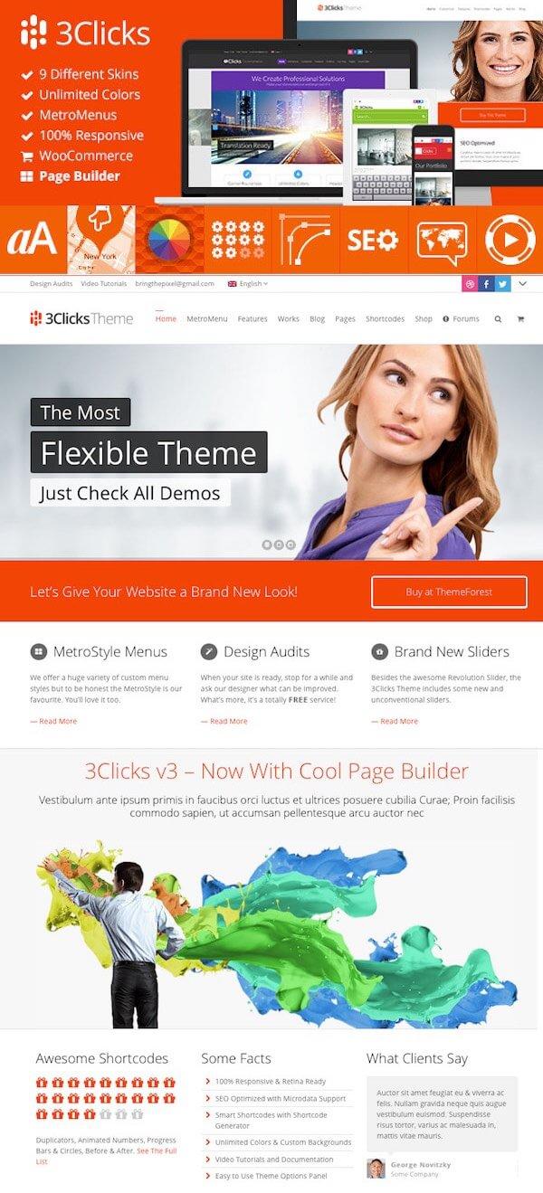 3Clicks Corporate WordPress Theme