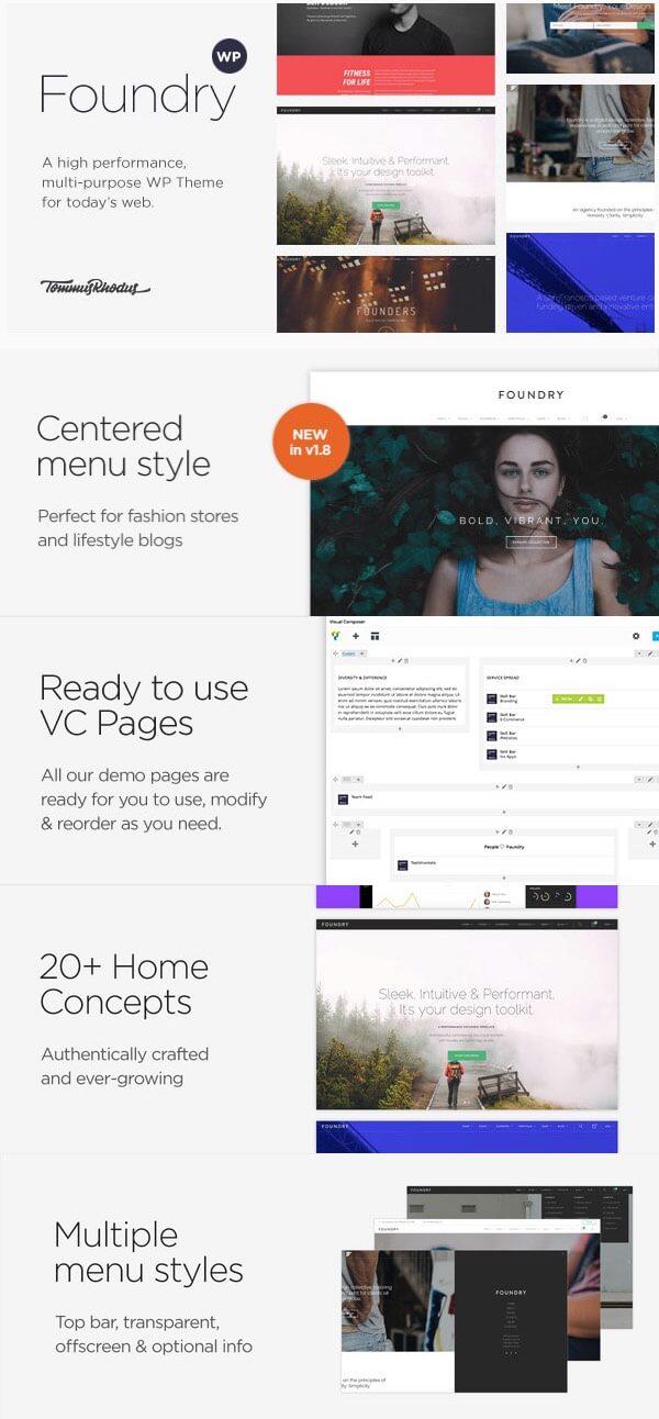 Foundry - Highly-Flexible Wordpress Portfolio Theme