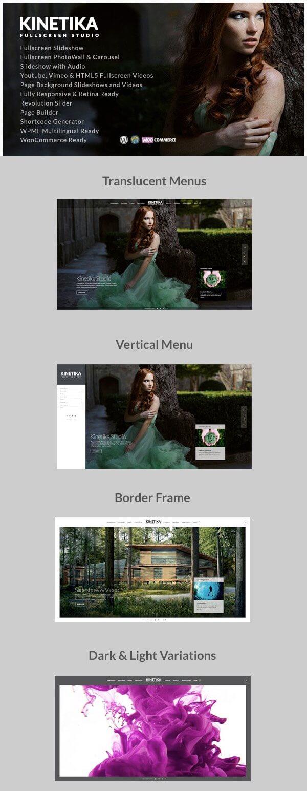 Kinetika - Best Photography WP Theme