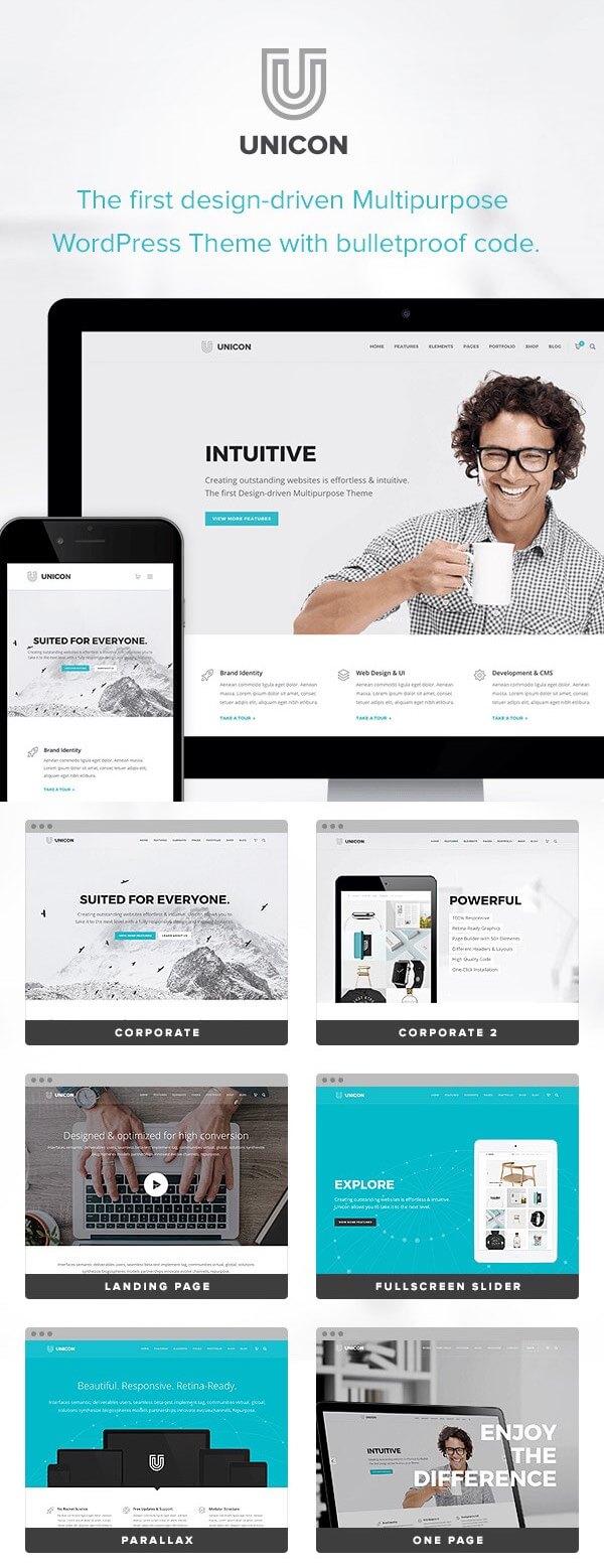 Unicon - Creative WordPress Portfolio Theme