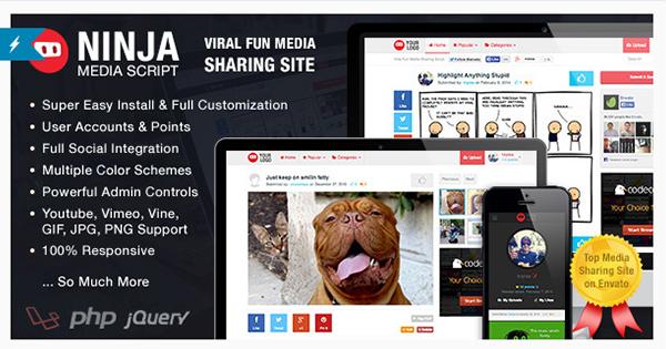 Ninja Media Script - Viral Fun Media Sharing Site