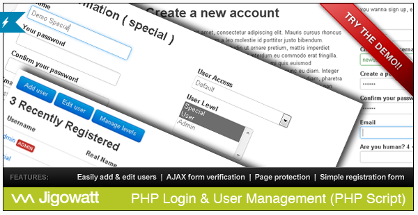 PHP Login User Management