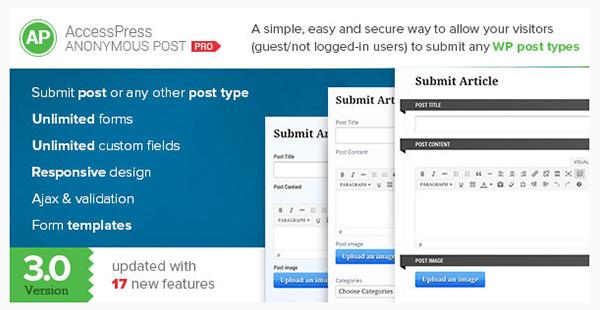 AccessPress Anonymous Post Pro