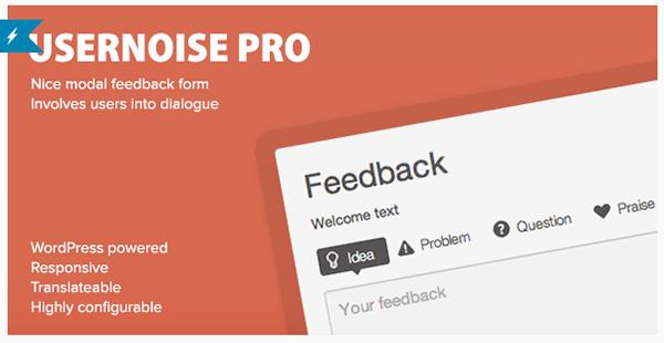 Usernoise Pro Modal Feedback Contact Form
