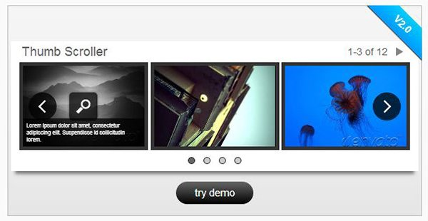jQuery Image Content Scroller w Lightbox