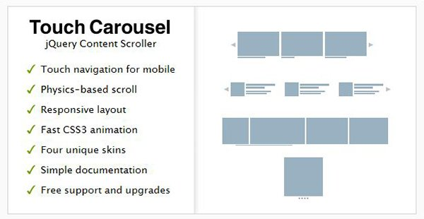 TouchCarousel - jQuery Content Scroller and Slider
