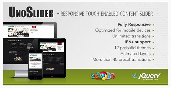 UnoSlider - Responsive Touch Enabled Slider