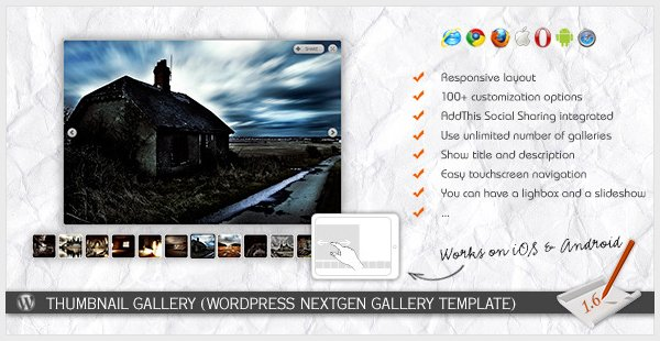 Thumbnail Gallery WP NextGEN Gallery Template