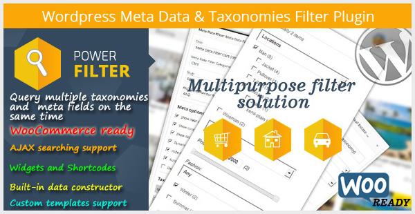 WordPress Meta Data Taxonomies Filter