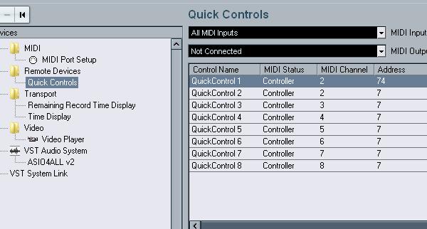 Quick Controls Through Devices Menu