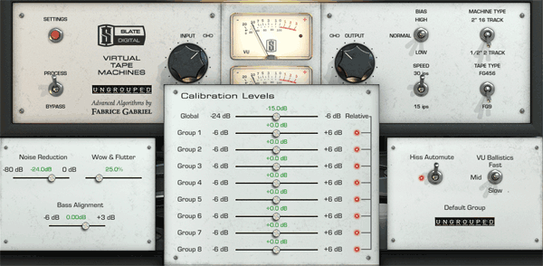 The Steven Slate Virtual Tape Machine Plugin This image shows the hidden parameters