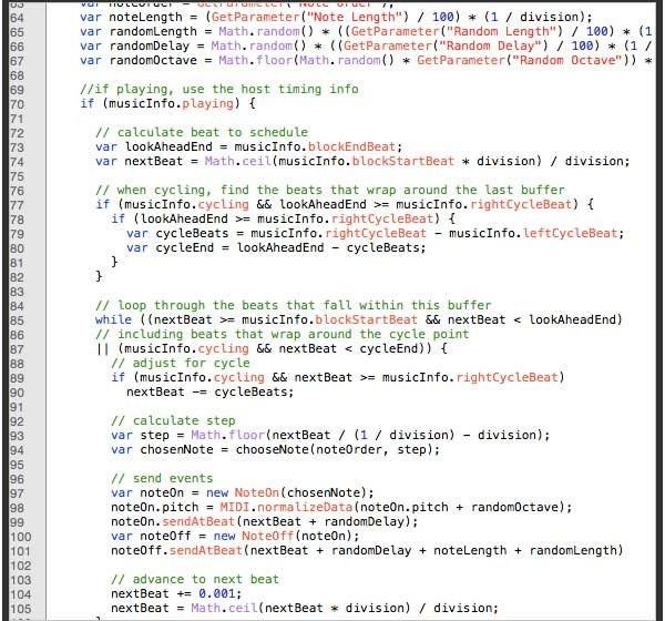 This is just a portion of the code