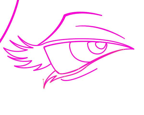 Eye without Filled in Eyelashes