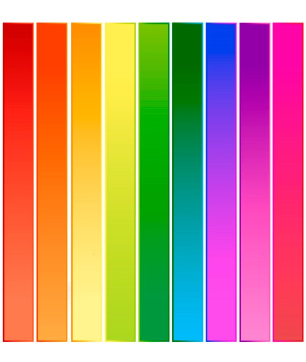 Completed Color Bars