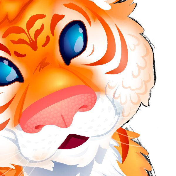Adding Texture Fur to the Cheeks