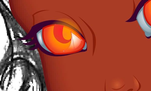 Adding Shine to the Eyes