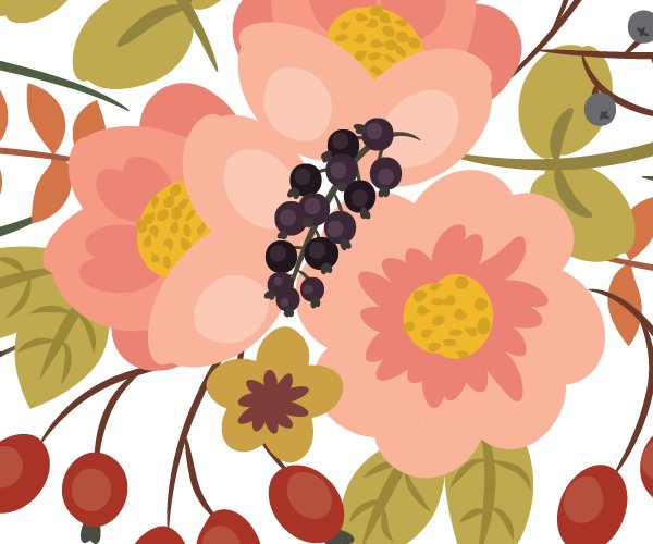 drawing styles of the black currants