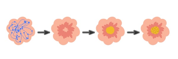 drawing the pink flower 2