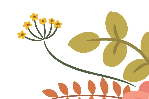 drawing the center of the yellow flower