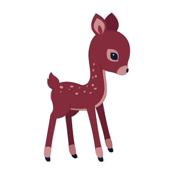 drawing the fawn stains