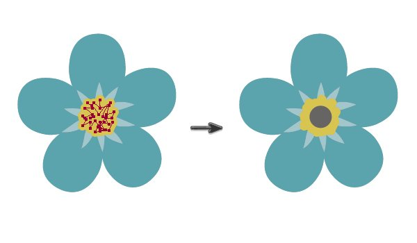 drawing flowers of forget-me-nots 2