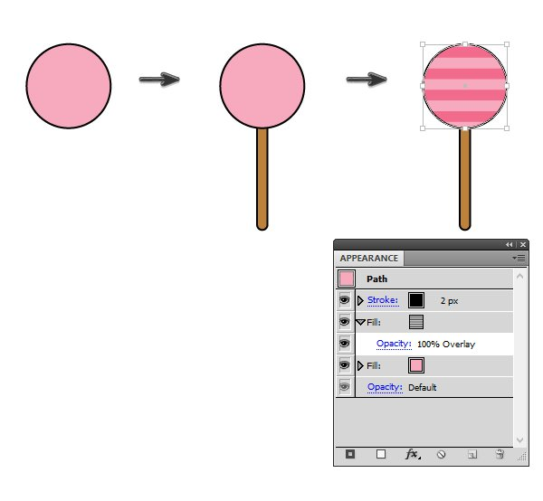 creating the lollipop