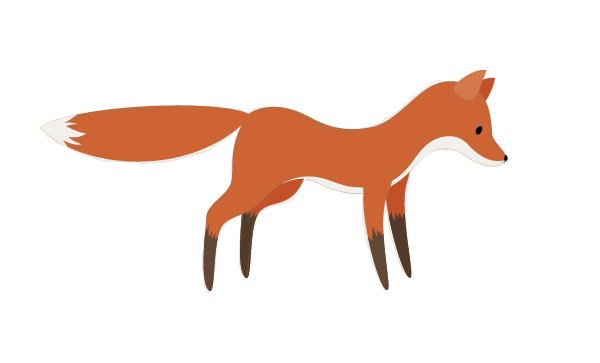 displaying the fox after deleting the unneeded parts
