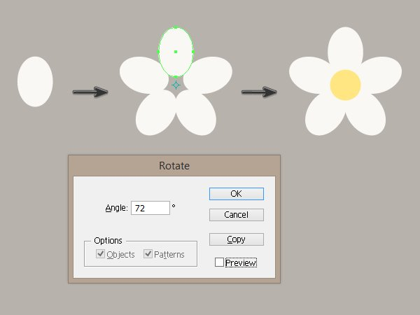 creating the flower