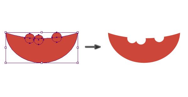 creating the bitten watermelon