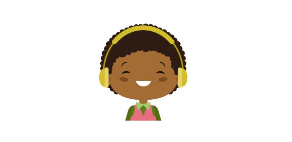 final image the character with headphones