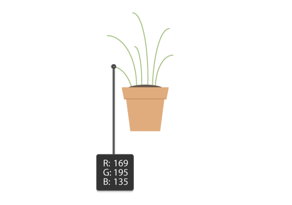 creating the stalks of the first plant