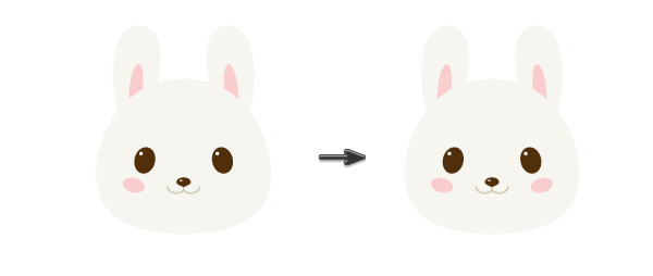 creating the cheeks
