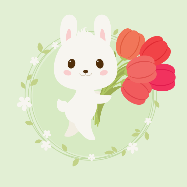 placing the rabbit on the background