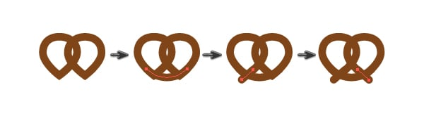 creating the pretzel 2