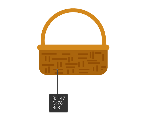 creating the texture of the basket