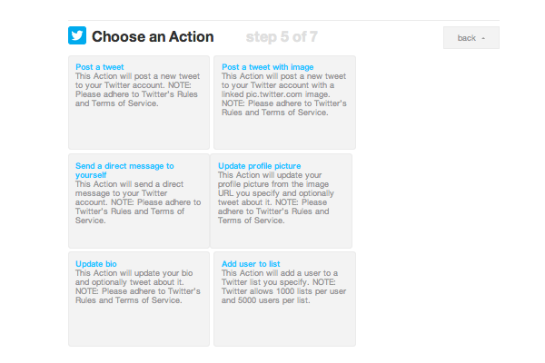 select action