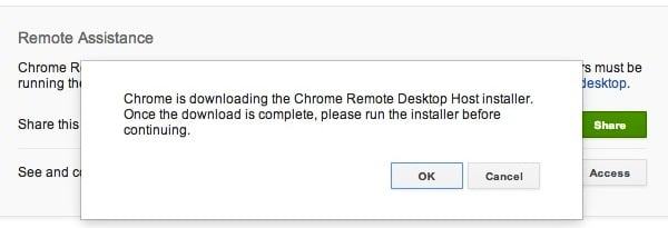 Allow Chrome to download the Installer
