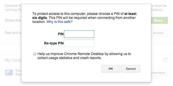 Create a secure PIN