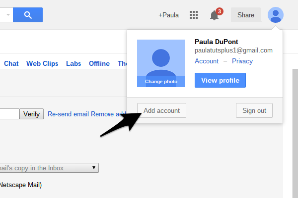 Connect two Gmail accounts to make switching inboxes easier